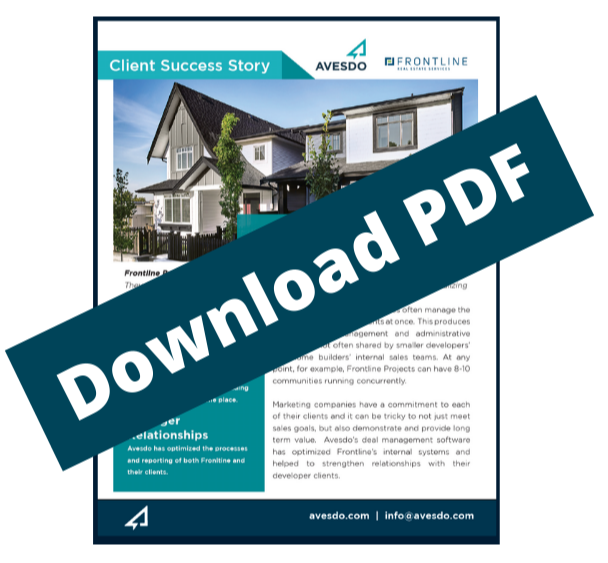 Copy of It's all of your conveyancing, it's your contract management, it's everything you sendto your lawyer, so it all sits in once place and the information that sits in Avesdo, you can use to run your business-